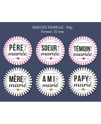 Badge Famille Pop 32 mm