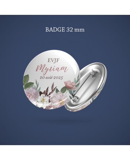 Badge EVJF Botanique 32 mm