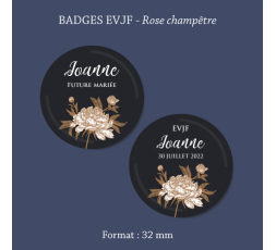 Badge rose Super témoin Bulle BD 32mm