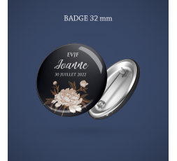 Badge Super témoin Diamant 32 mm