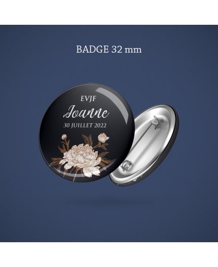 Badge EVJF Floraison 32 mm