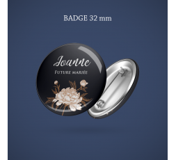 Badge Super témoin Diamant 56 mm