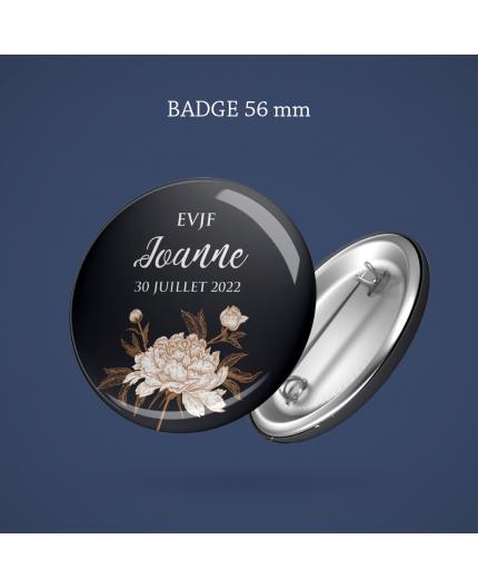Badge EVJF Floraison 56 mm