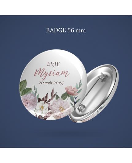 Badge EVJF Botanique 56 mm