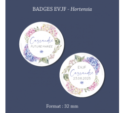 Badge EVJF Kraft et dentelle 56 mm