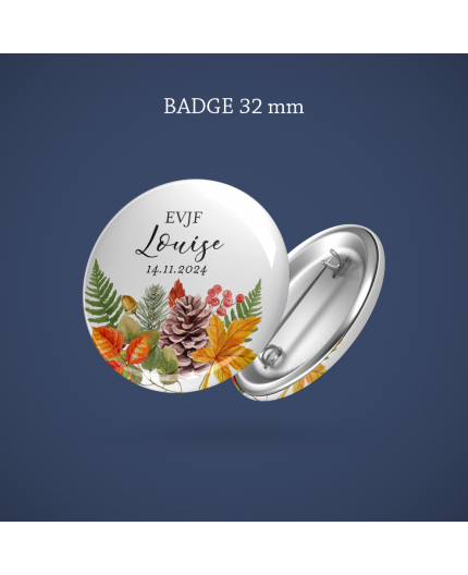 Badge EVJF Automne 32 mm