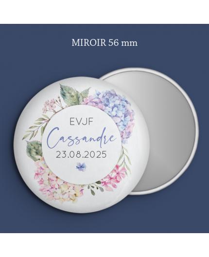 Miroir EVJF hortensia