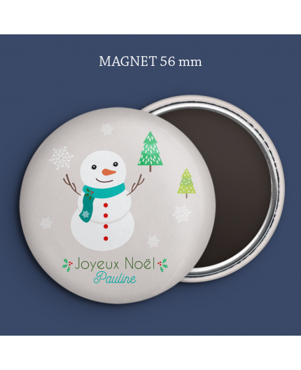 Magnet Noël Bonhomme de neige