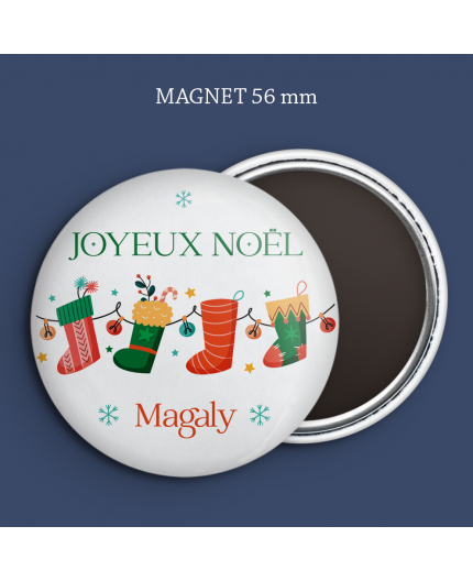 Magnet Guirlande chaussettes Noël
