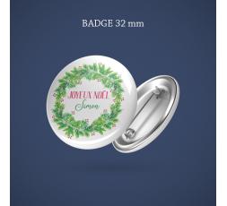 Badge Super témoin Printemps géométrique 56 mm