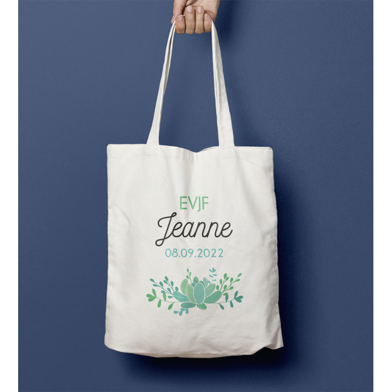 Tote bag EVJF Succulente