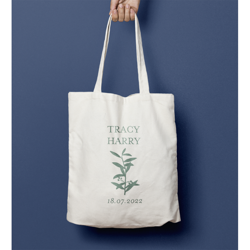 Tote bag mariage Branche olivier