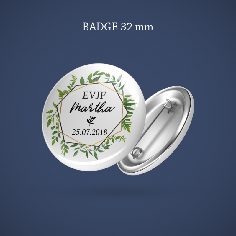 Badge EVJF Sur ma branche 32 mm
