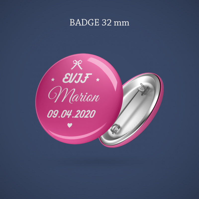 Badge EVJF Noeud 32 mm
