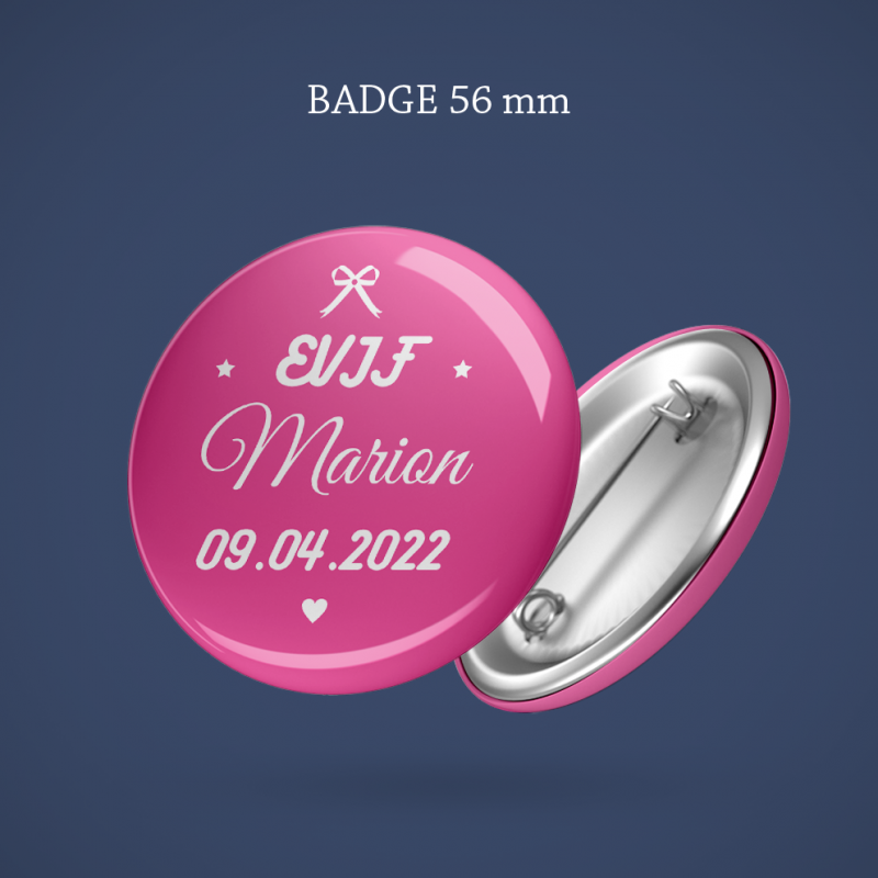 Badge EVJF Noeud 56 mm