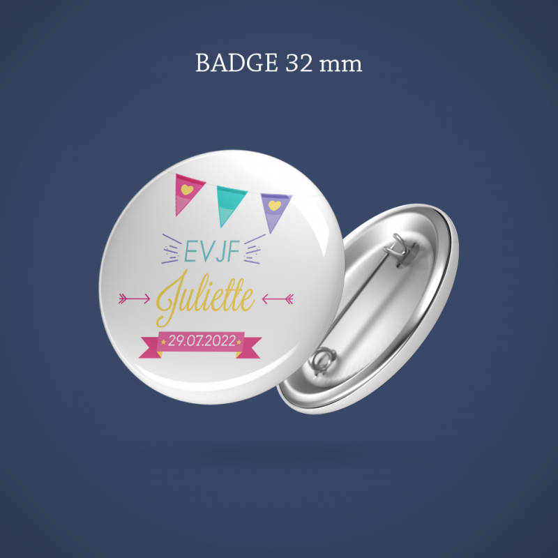Badge EVJF Fanion 32 mm