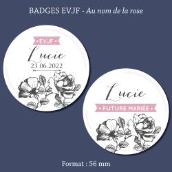 Miroir Personnalisé EVJF Couronne de fleurs