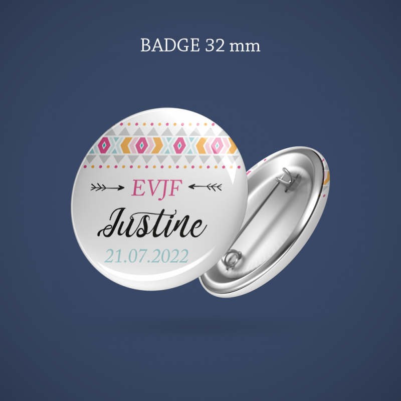 Badge EVJF Boho 32 mm