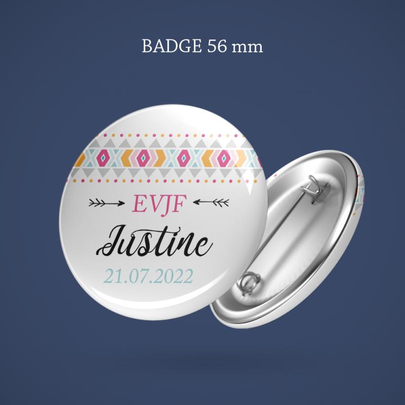 Badge EVJF Boho 56 mm