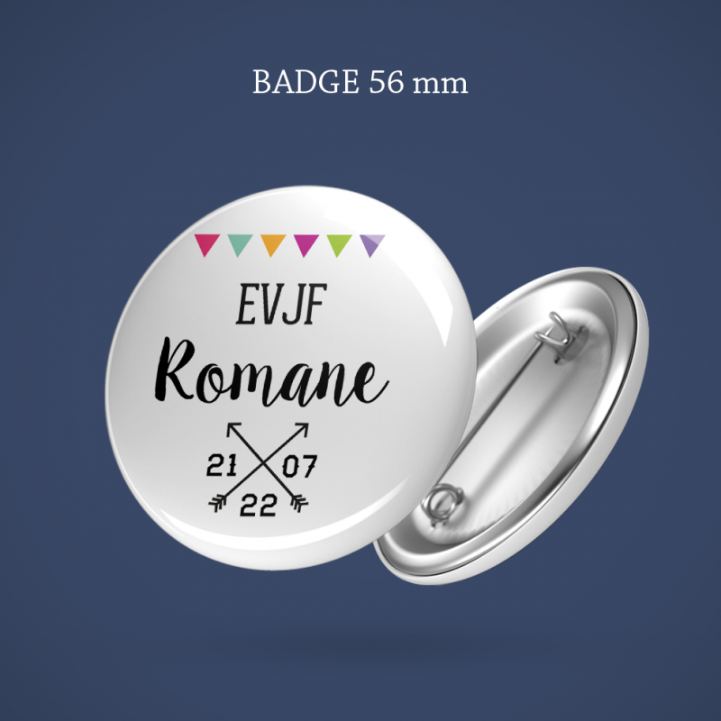 Badge EVJF Diamant 56 mm