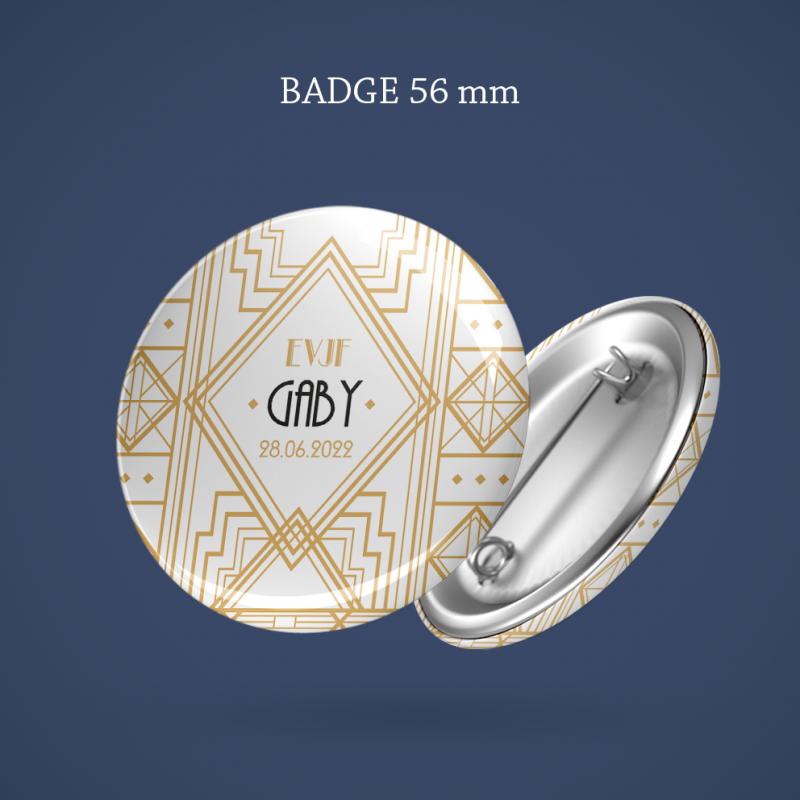 Badge EVJF Gatsby 56 mm