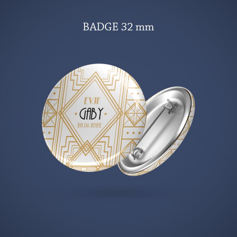 Badge EVJF Gatsby 32 mm