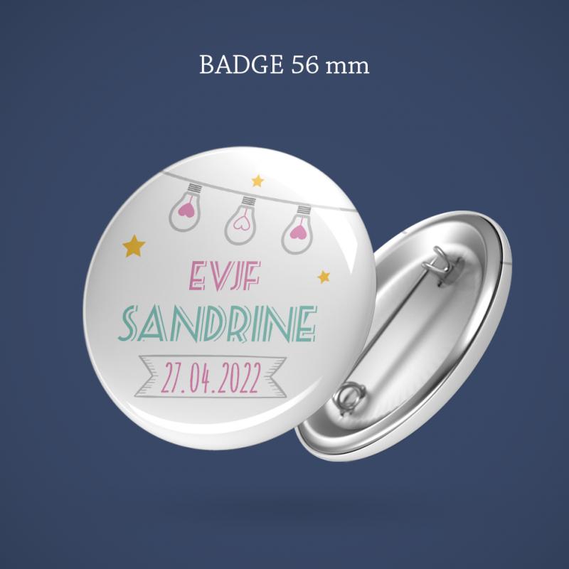 Badge EVJF Guirlande étoilée 56 mm