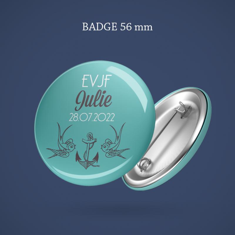 Badge EVJF Hirondelle 56 mm