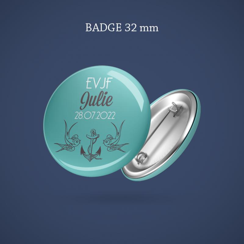 Badge EVJF Hirondelle 32 mm