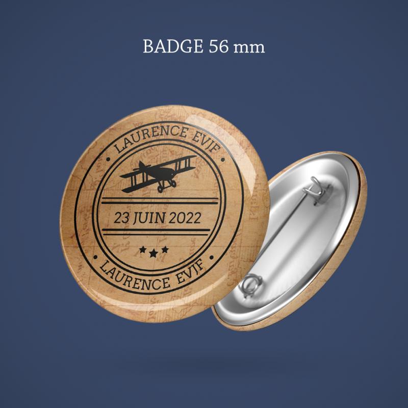 Badge EVJF Voyage imaginaire 56 mm