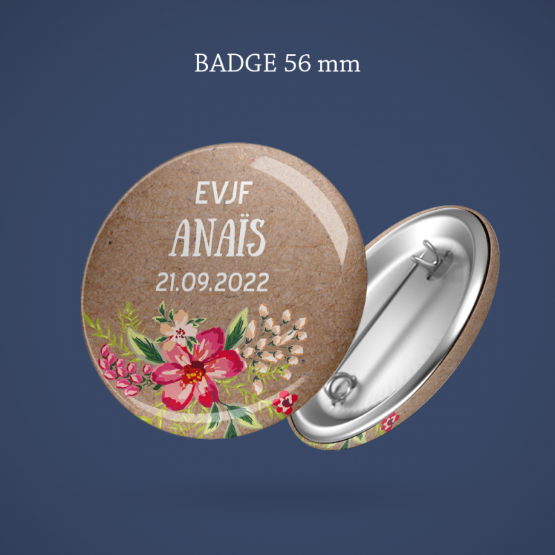 Badge EVJF Aloha 56 mm