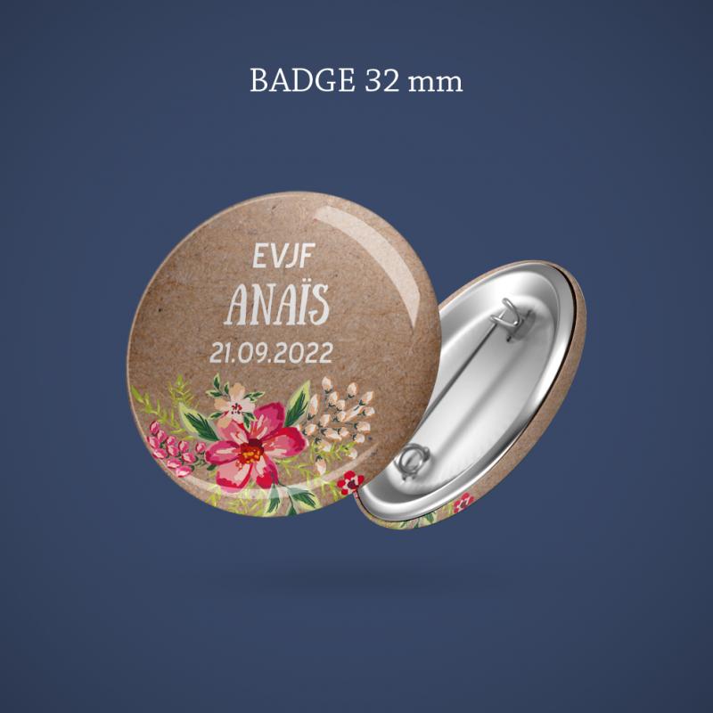Badge EVJF Aloha 32 mm