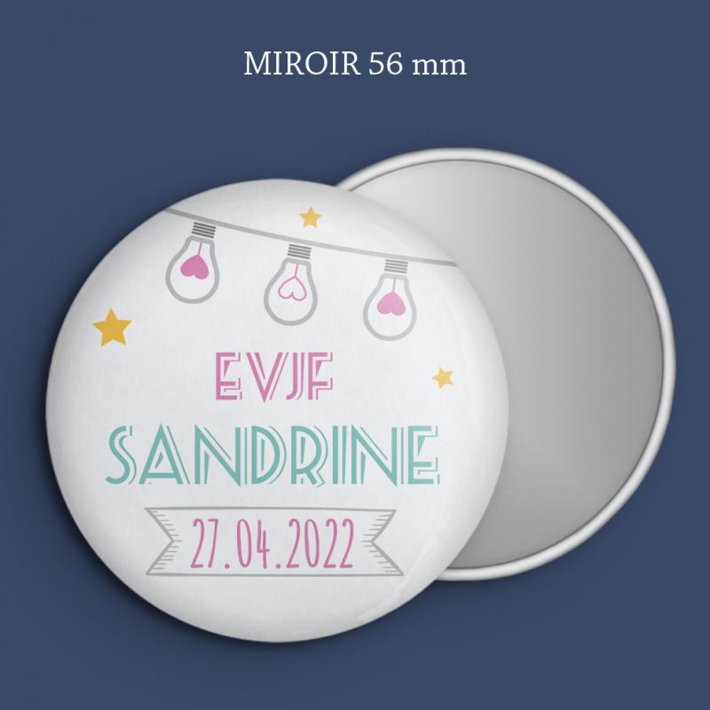Miroir EVJF Guirlande étoilée