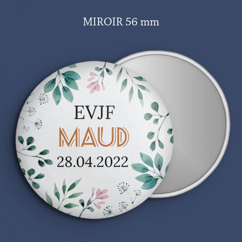 Miroir EVJF Printemps géométrique