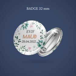 Faire-part naissance magnet Bayadère