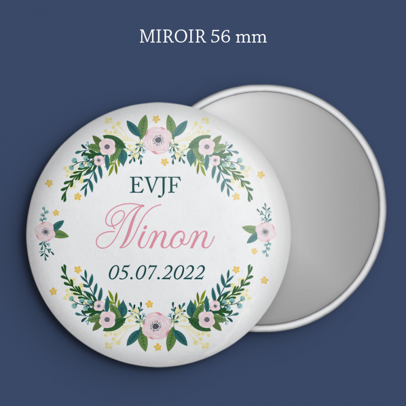 Miroir EVJF Old Roses