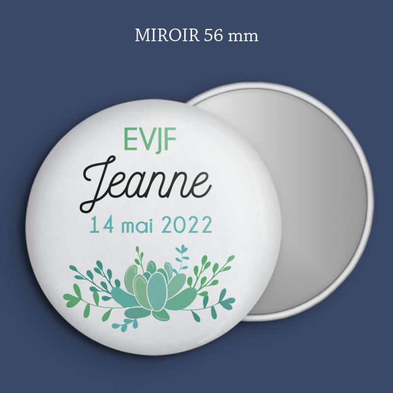 Miroir EVJF Succulente
