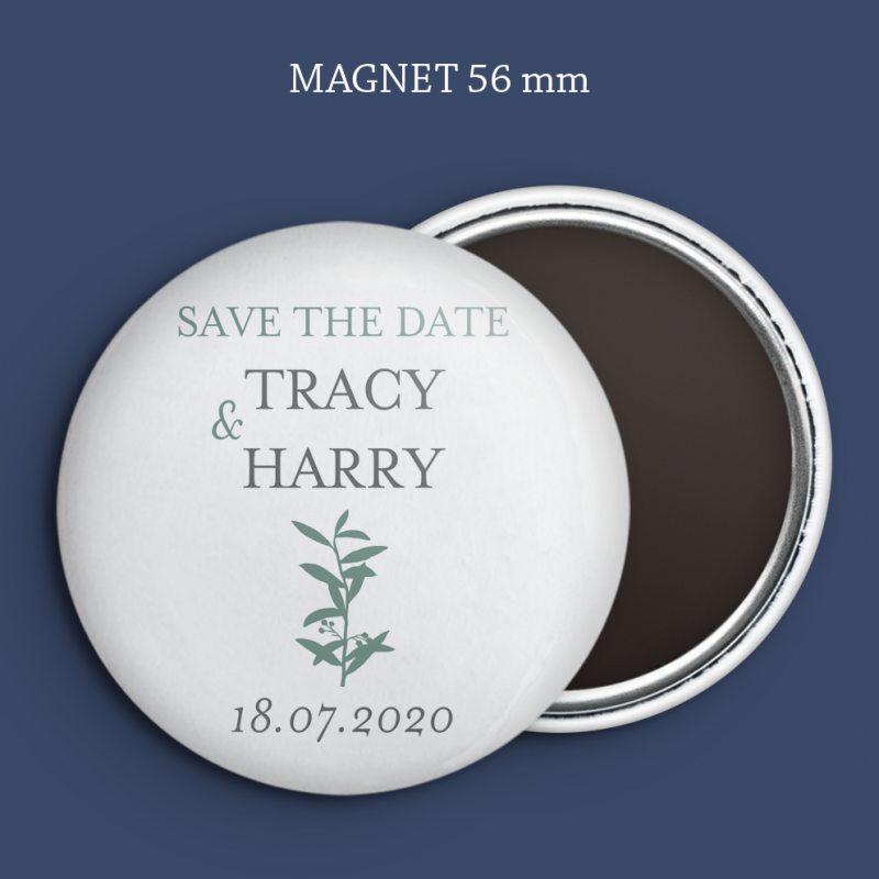 Magnet Save the date Branche Olivier