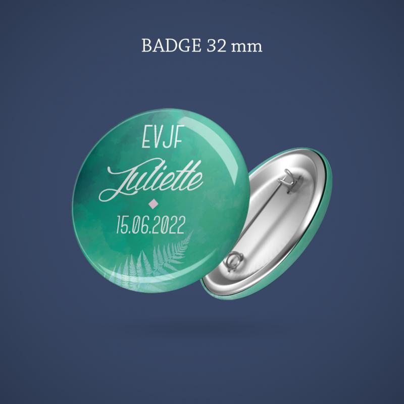 Badge EVJF Fougère 32 mm