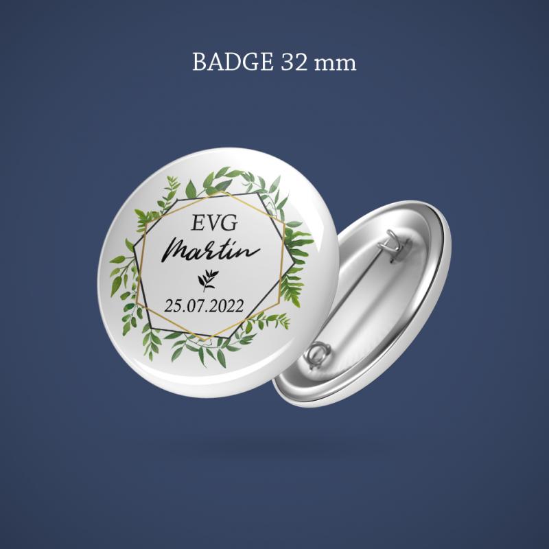 Badge EVG Sur ma branche 32 mm