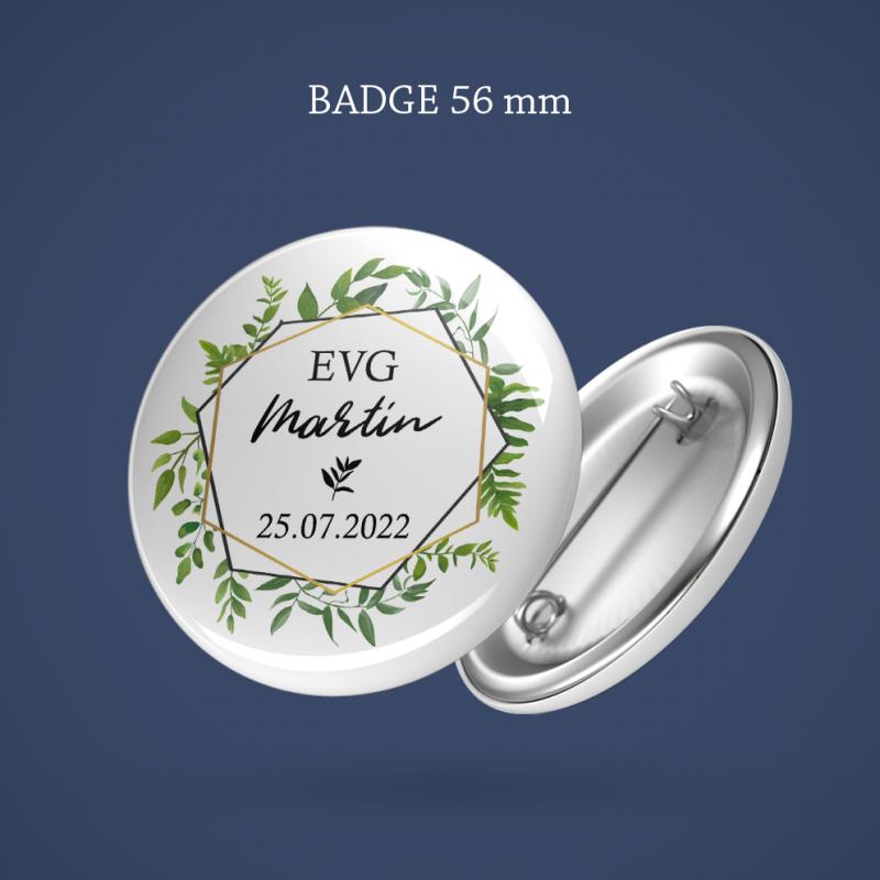 Badge EVG Sur ma branche 56 mm