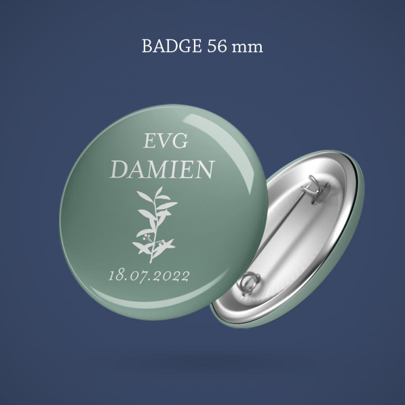 Badge EVG Branche olivier 56 mm