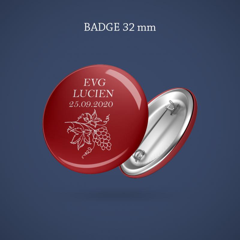 Badge EVG Vigne 32 mm