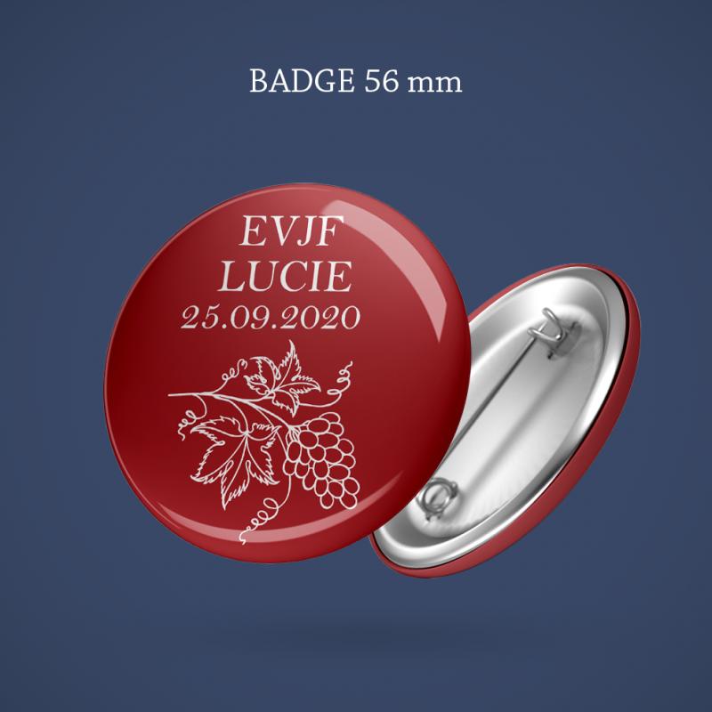 Badge EVJF Vigne 56 mm