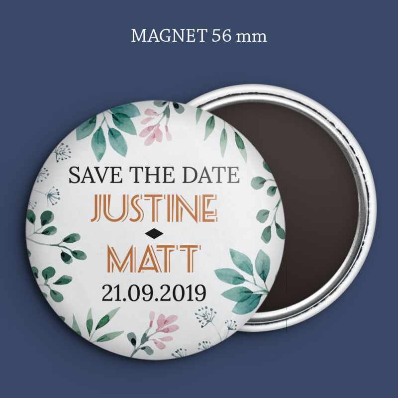 Magnet Save the date Printemps