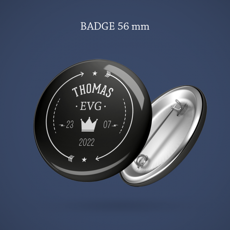 Badge EVG Couronne 56 mm