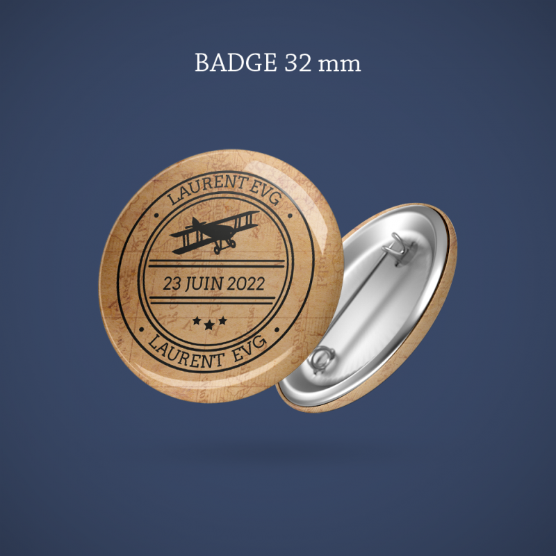 Badge EVG Avion 32 mm