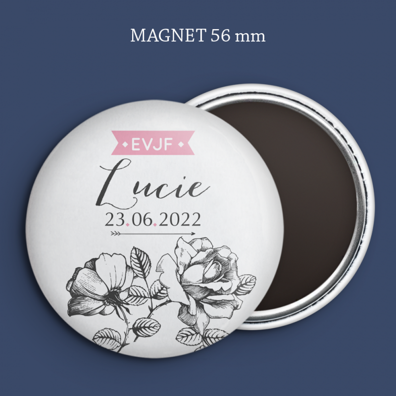 Magnet Save the date Gravure rose