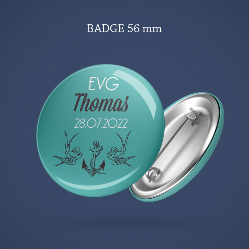 Badge EVG Tatoo 56 mm