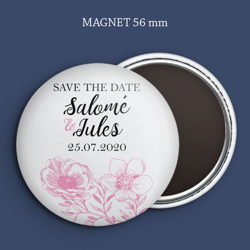 Magnet Save the date Toile de Jouy